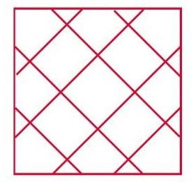 pose en diagonale